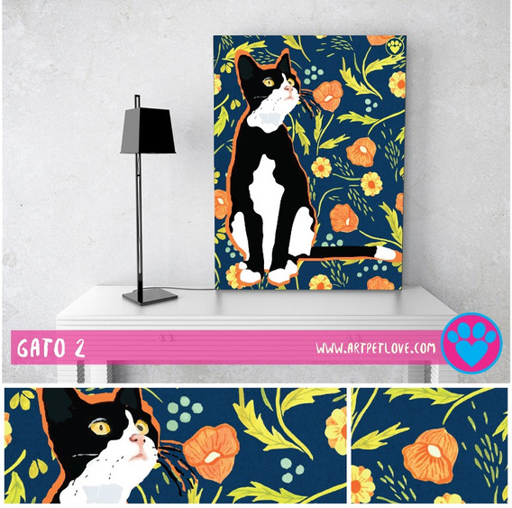 Cuadro - Art Pet Love - Gato 2.