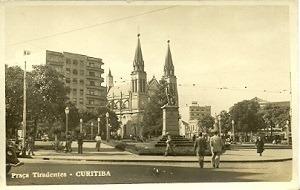 Cartao Postal - Praca Tiradentes - Curitiba - Parana - Carta