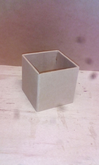 10 Cajas Cajitas Souvenir 8x8x8 Cm Fibrofacil (sin Tapa)