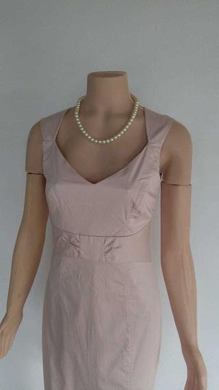 Hym Vestido Rosa Pastel Al Cuerpo Oficina Elegante