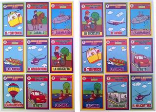 Lotería Educativa De Medios De Transporte Didáctica Español