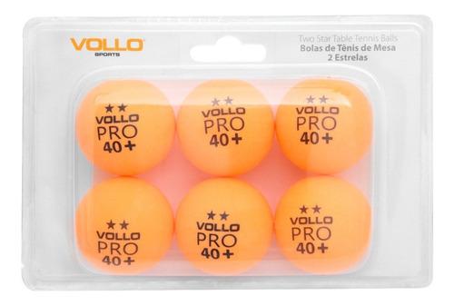 Imagem 1 de 1 de Kit Bola Boliinhas Vollo 6 Unidades Ping Pong Tenis De Mesa