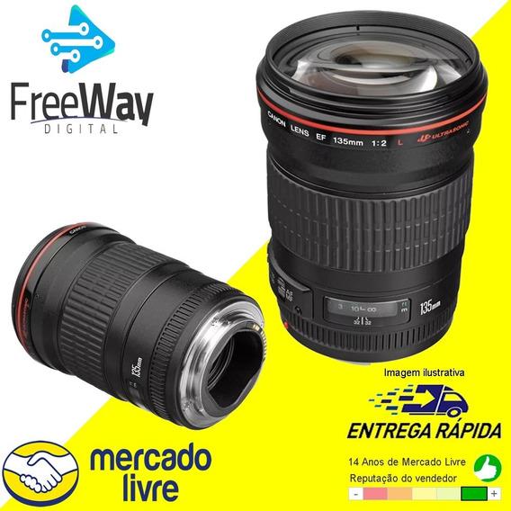 Lente Canon Ef 135mm F/2l Usm + Nota Fiscal
