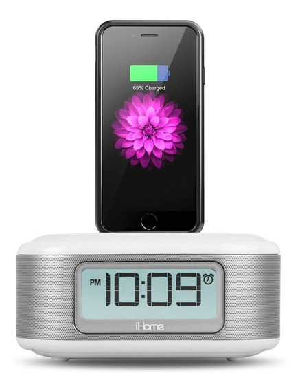 Dock Rádio Relógio + Dual Charging Ihome Ipl23w Para iPhone