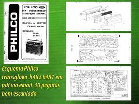 Esquema Philco Transglobo B482 B481 Chassis Rd-108 Em Pdf