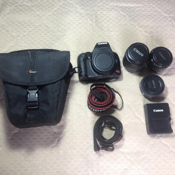 Kit Camera Canon T1i, 18-55, 50, 24mm Stm, Bolsa, Cartão 16g