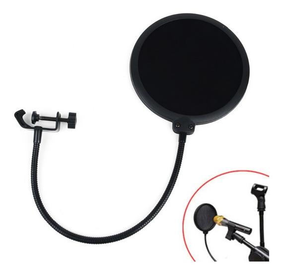 Pop Filter Filtro Anti Sopro Para Microfones Pronta Entrega