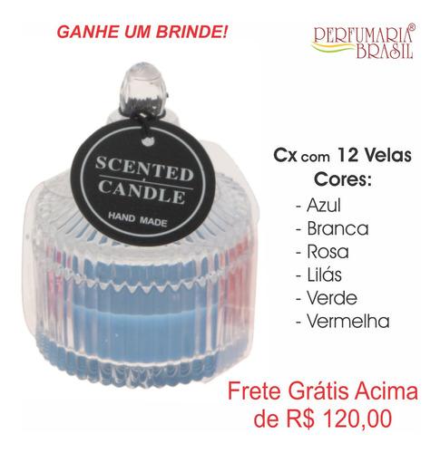 Caixa Com 12 Velas Aromaticas - Vidro - Hand Made