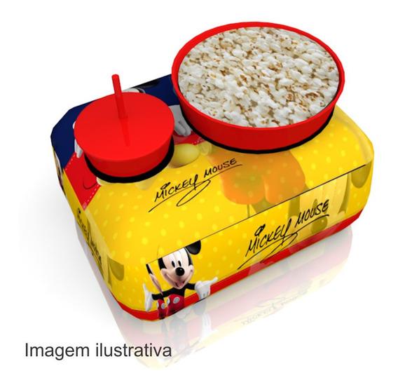 20 Almofadas Pipoca 1 Copo Canudo Lembrancinha Mickey
