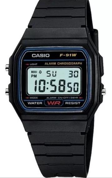 Reloj Casio Vintage F-91w Para Caballero!