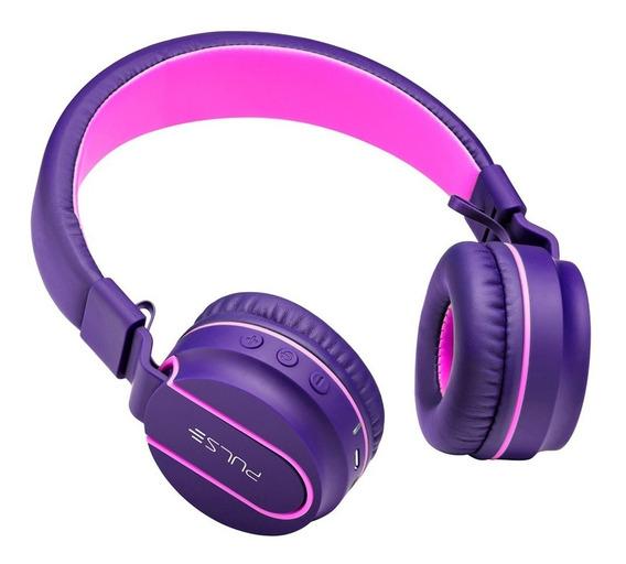 Headphone Pulse Bluetooth Ph217 Rosa/roxo Em 12x Sem Juros
