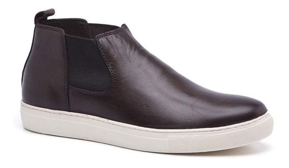 Bota Estilo Sapatenis Cano Curto Keep Shoes Cor Chocolate