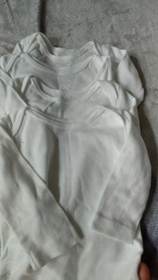 Kit Body Carters 3 Meses Manga Longa Branco Usado
