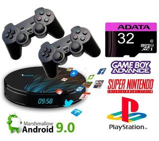 Mini Consola Retro Snes Super Nintendo Ps1 2 Controles 48gb