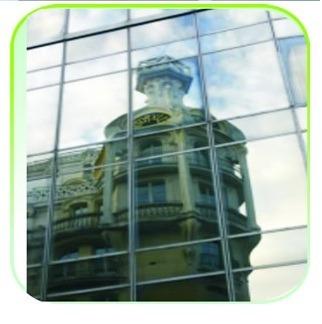 Film Espejado Para Vidrieras,ventanillas,divisores De Oficin