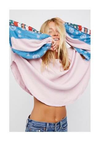 Buzo Free People 2 Texturas Nuevo!! Rosa Talle L