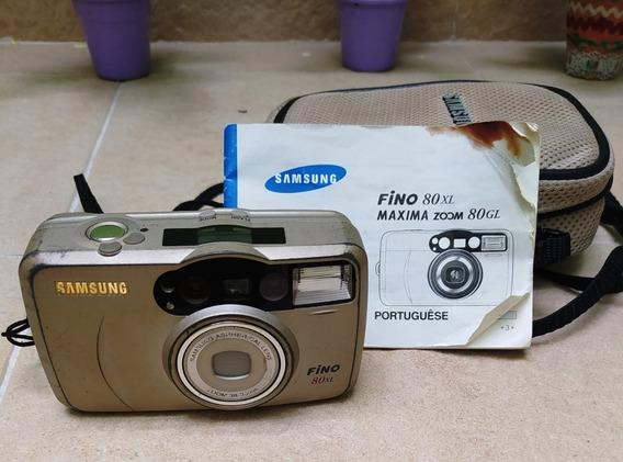 Máquina Câmera Fotográfica Analógica Samsung Fino 80xl