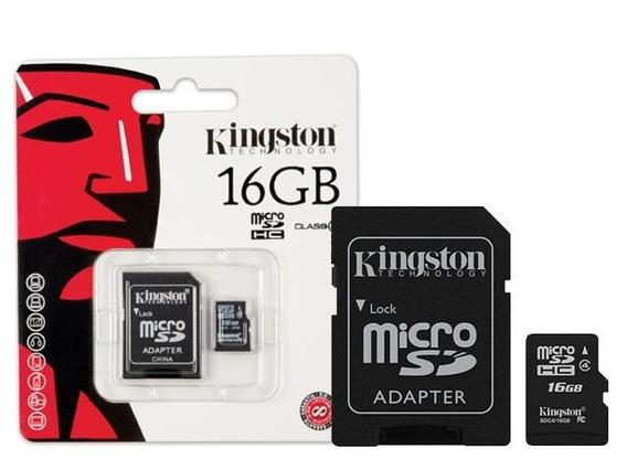 Cartao De Memoria Classe 4 Kingston Sdc4/16gb Microsdhc 16gb