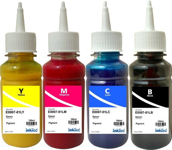 Tinta Pigmentada Inktec Para Epson 4 Refil De 100ml