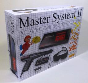 Caixa Vazia Sega Master System 2 De Madeira Mdf