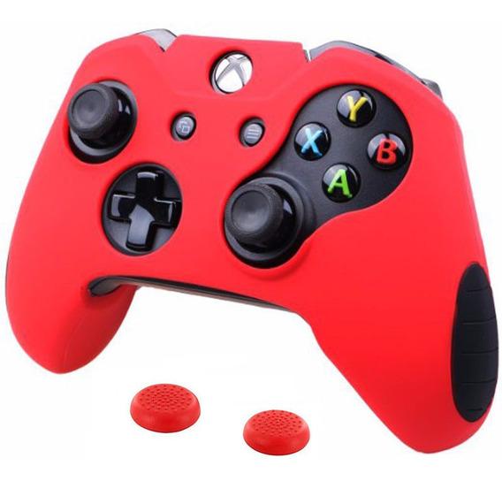 Novo Kit Capa Silicone Extra Grossa Xbox One + Par Grips