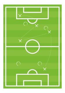 Lona Didáctica Diseño Futbol Grande