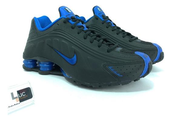 Tênis Nike Shox R4 Black Royal 100% Original