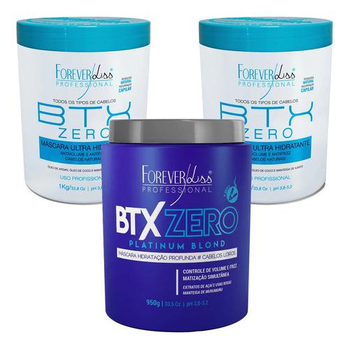 Kit 2 Botox Zero Formol 1 Btx Platinum Blond Forever Liss 1k