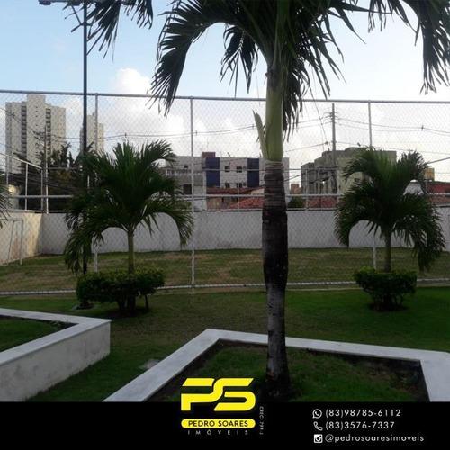 Apartamento Com 2 Dormitórios Para Alugar, 60 M² Por R$ 1.300/mês - Jardim São Paulo - João Pessoa/pb - Ap3324