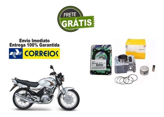 Kit Cilindro Motor + Jogo Junta Kit A Ybr/xtz 125 Metal Leve