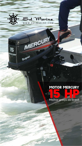 Motor Popa Mercury 15hp 18hp Super 2020 ( Produtor Rural )