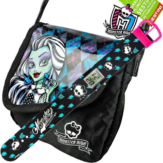 Relógio De Pulso Digital Monster High Mais Bolsa Frankie