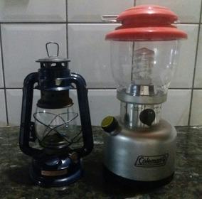Kit De 2 Lampiões Um A Querosene E O Outro A Energia