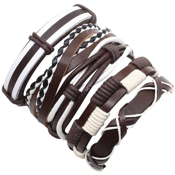 Bracelete Pulseira Masculina Kit 5 Unidades Frete Grátis