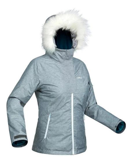 Jaqueta Impermeável Para Frio Neve C/ Pelinho -10°c Feminina