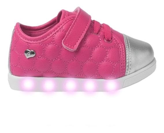 Tênis Com Luz Que Pisca Sneaker Pink Pampili. Menina