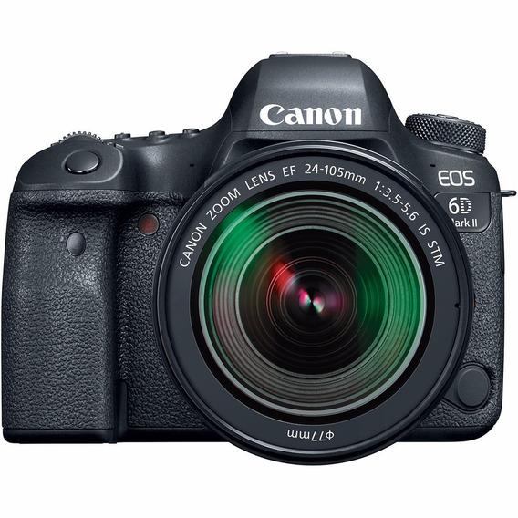 Câmera Canon Eos 6d Mark Ii Com Lente 24-105/gps/wifi
