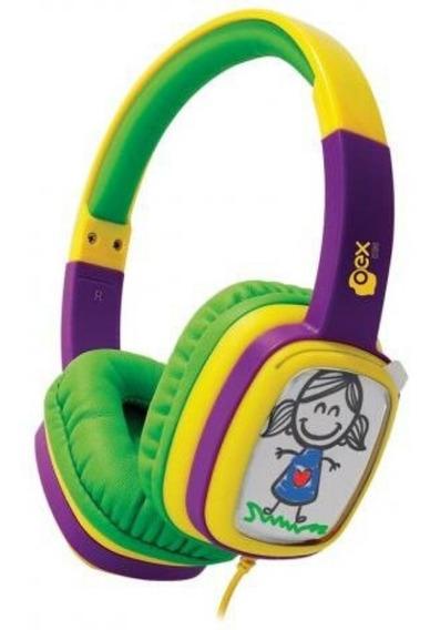 Fone De Ouvido Kids Headphone Infantil Com Cards E Giz Oex