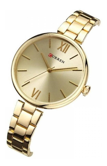 Relógio Original Curren 9017 - Todo Em Aço Com Garantia