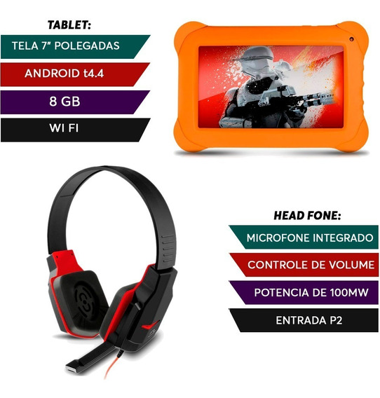 Kit Fone Headset Gamer + Tablet Disney Star Wars
