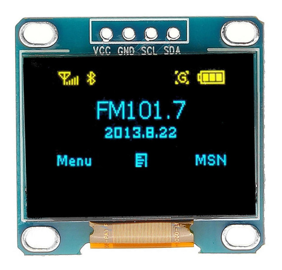 Pantalla Oled Display 0.96p Arduino Raspberry Arm I2c Iic Se