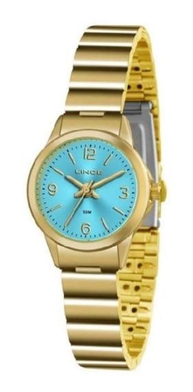 Relógio Lince Feminino Folheado Caixa Pequena Lrg4434l A2kx