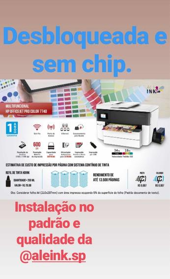Hp 7740 Com Sistema Bulk Ink-desbloqueada Sem Chip Aleink