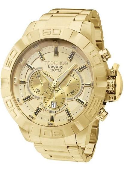 Relógio Technos Dourado Masculino Classic Legacy Js25ba/4x