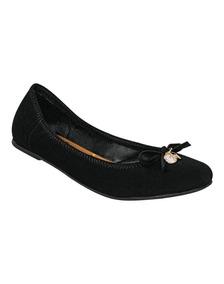 Calzado Mujer Balerina Negras Comodas 23-25 (kv421)