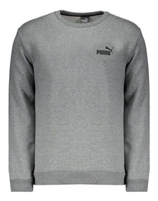 Moletom Puma Essentials Fleece Crew Cinza Mescla