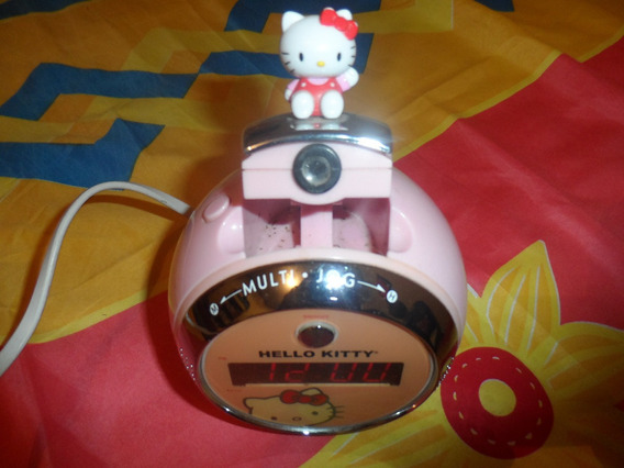 Reloj De Hello Kitty Con Proyector Y Radio Am Fm