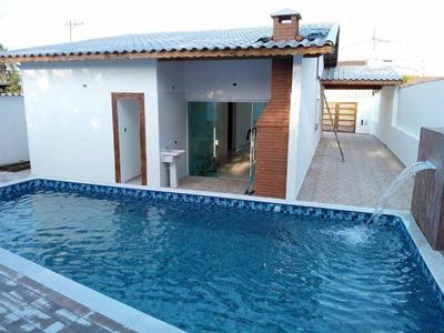 Linda Casa Nova Com 3 Dorm E Piscina, Lado Praia - Cod: 303 - V303