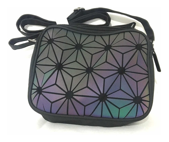 Bolsa Geometrica, Tipo Lonchera.Negro - Tornasol