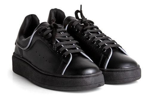 Imagen 1 de 5 de Zapatillas Genesis Urbana Mujer Hombre Negro Envió Gratis